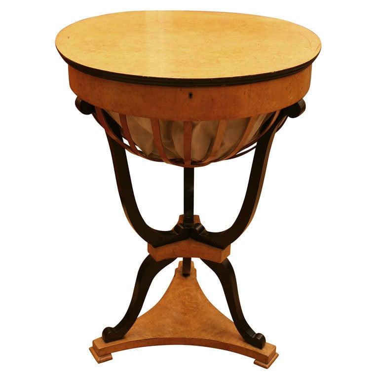 biedermeier work table for sale at 1stdibs. Black Bedroom Furniture Sets. Home Design Ideas