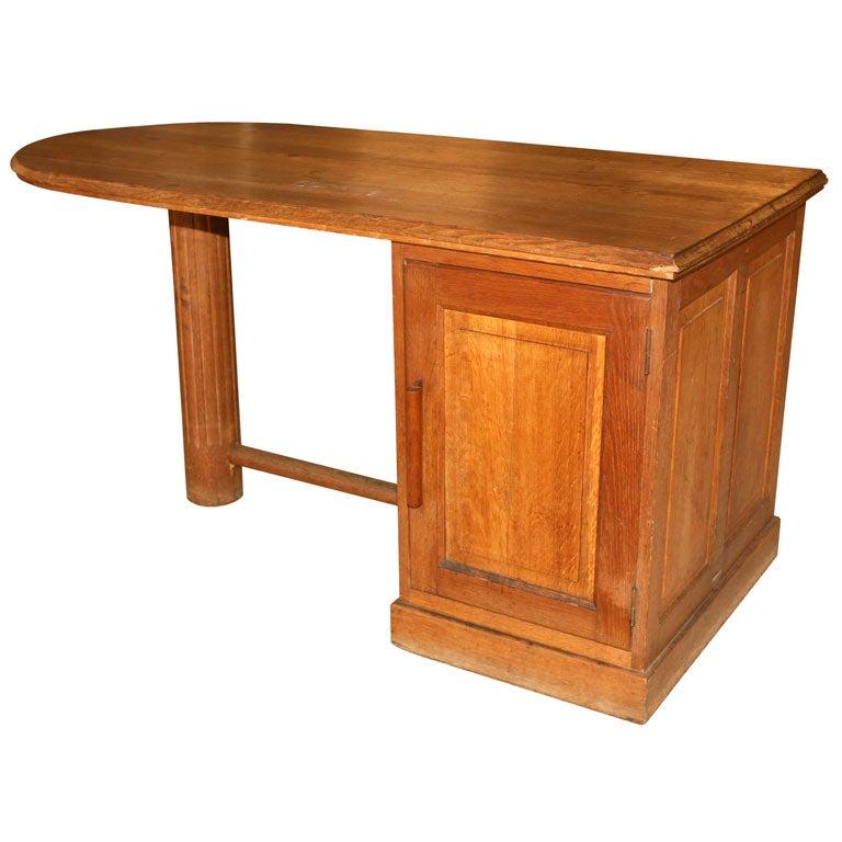 An Oak Pedestal Desk