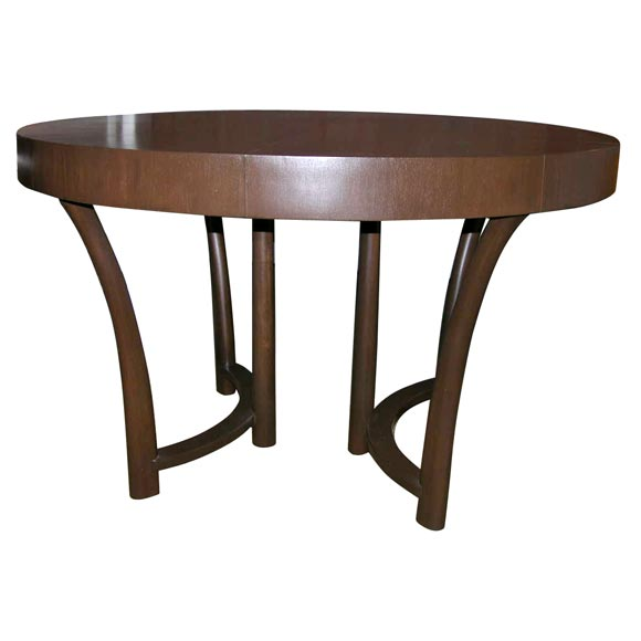 T h robsjohn gibbings 48 round extension dining table at for Dining room tables 48 round