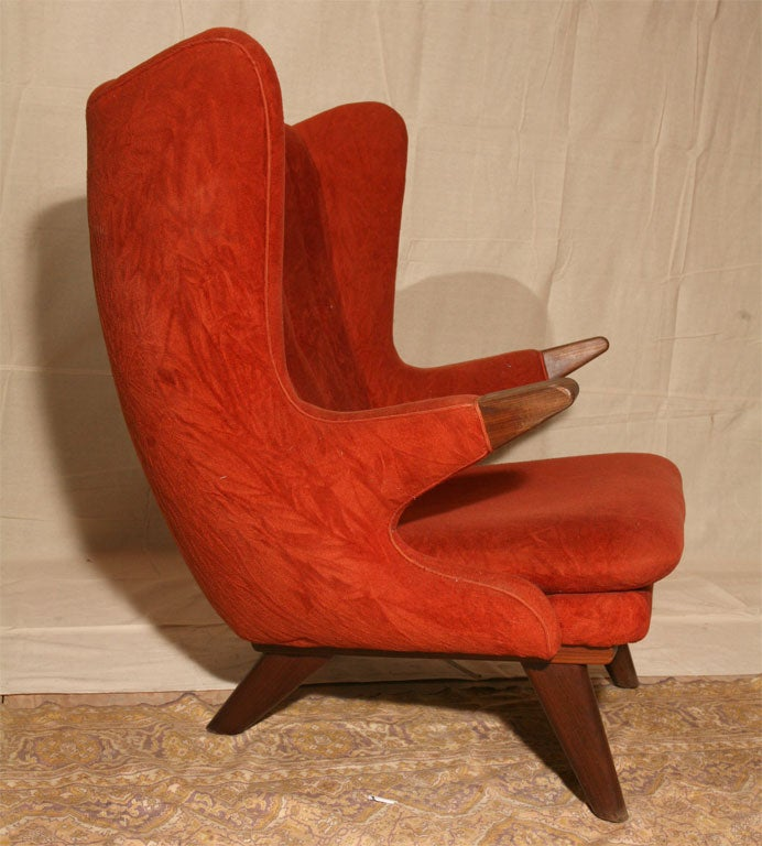 Red Papa Bear Chair By Svend Skipper At 1stdibs