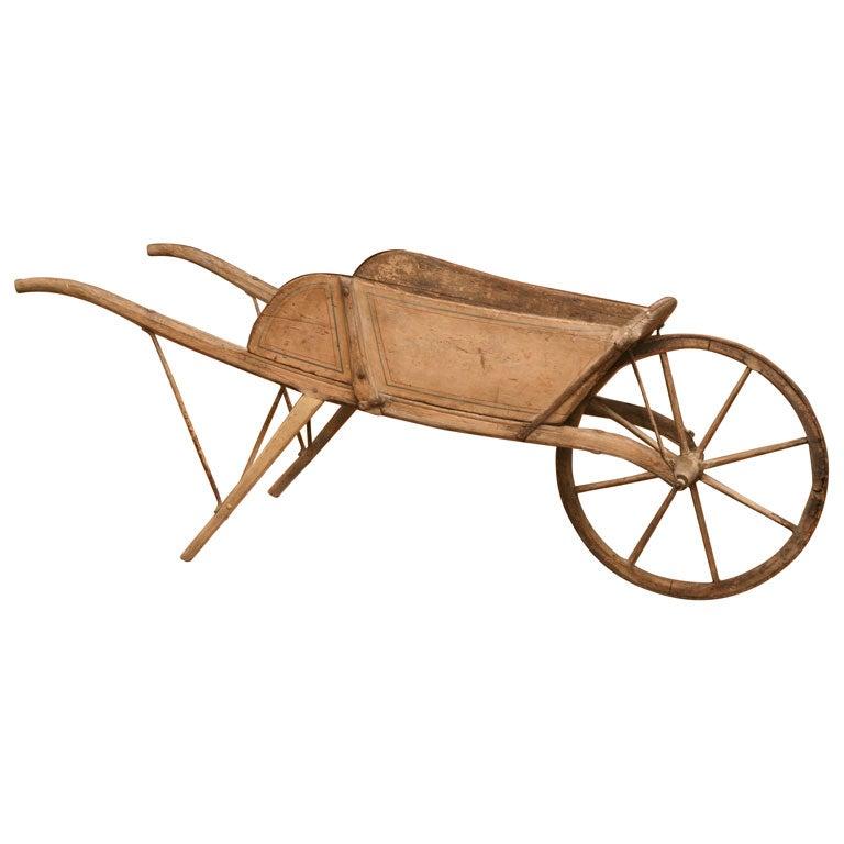 Wooden Wheelbarrow at 1stdibs