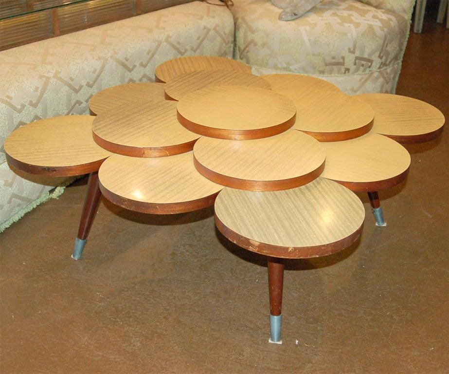 Circles Laminate Coffee Table At 1stdibs