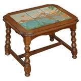 Ceramic Taylor tile scene  table San Francisco bridge &  plain