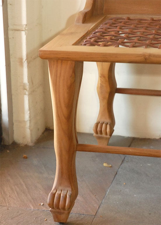 Pair Of Egyptian Inspired Teak Chairs At 1stdibs