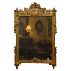 Louis XVI Period Mirror in Rose-paint & Gilt, France c. 1780