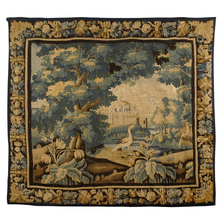 Regence Period Aubusson Tapestry with Landscape Scene, c. 1720