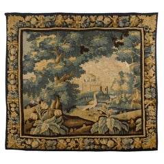 French Regence Period Aubusson Tapestry with Landscape Scene, c. 1720