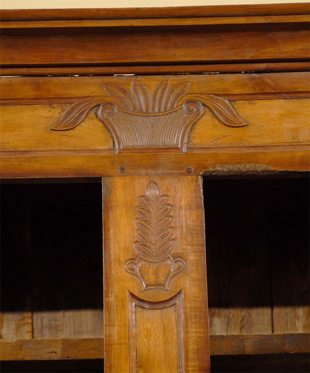 Louis XV Period Buffet Deux Corps in Burl Ash and Cherry, circa 1760 For Sale 4