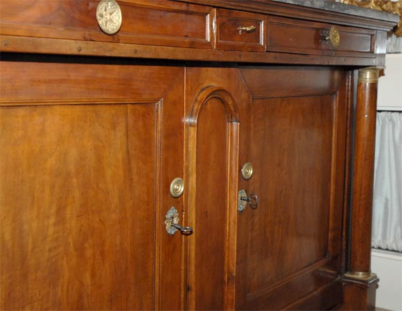 Marble Directoire Buffet For Sale