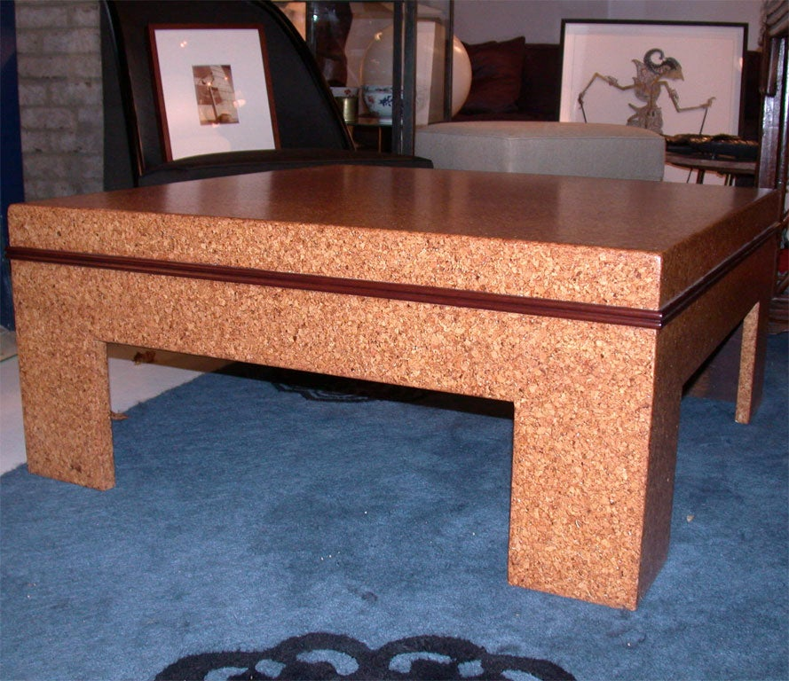 Cork Coffee Table By Paul Frankl At 1stdibs