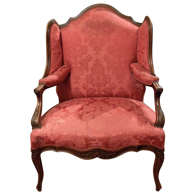 fauteuil de orielles chair with ears at 1stdibs