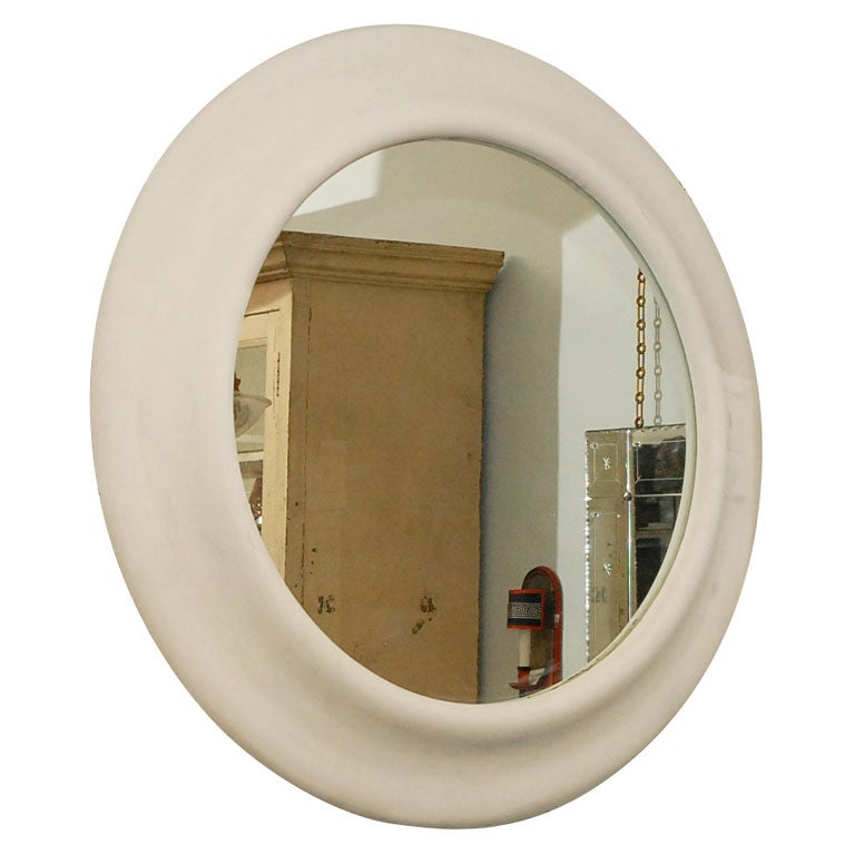 Large carved round mirror at 1stdibs for Big circle mirror