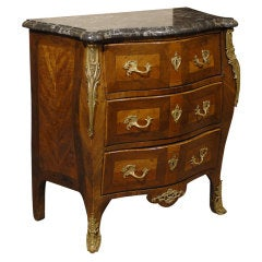 Louis XV Petite Serpentine Commode w/ Marble Top, France c. 1750