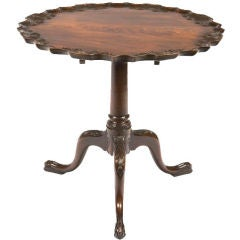 18th Century Georgian Mahogany Piecrust Tilt Top Table