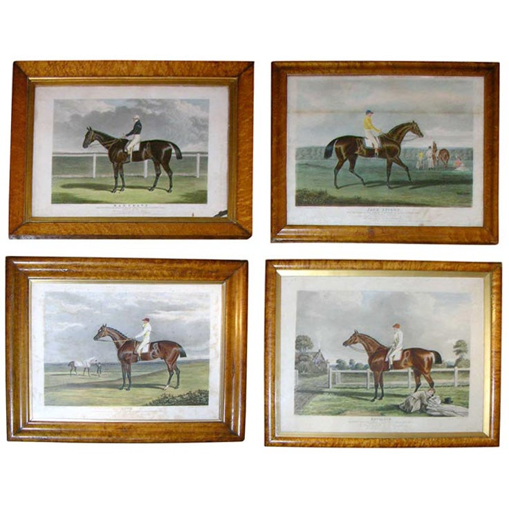 Set of Four 19th Century Equestrian Prints