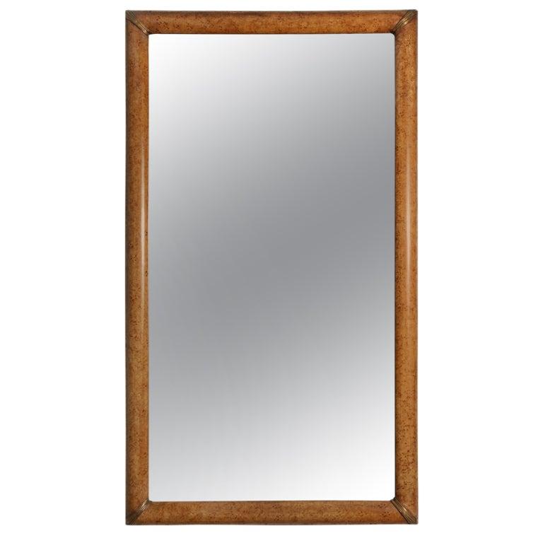 Mid-Century Modern Elegant French, 1940s Gilt and Wood Mirror