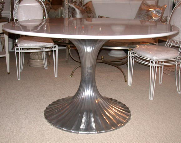 Round Aluminum Base Dining Table with White Granite Top at  : DSCN2971 from www.1stdibs.com size 580 x 458 jpeg 48kB