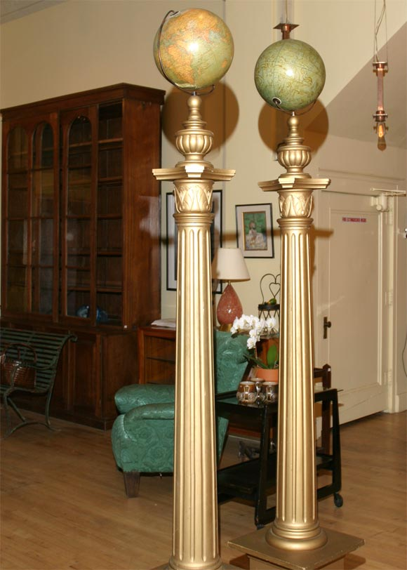 Pair of masonic temple columns image 5