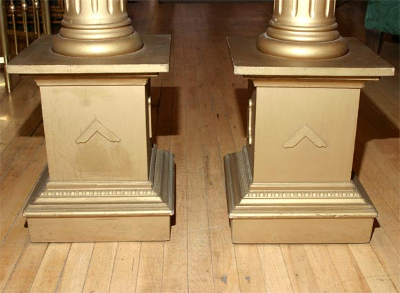 Pair of masonic temple columns image 6