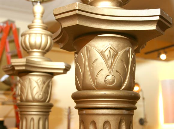 Pair of masonic temple columns image 8