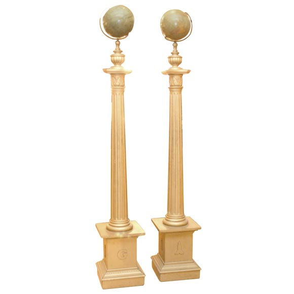 Pair of masonic temple columns