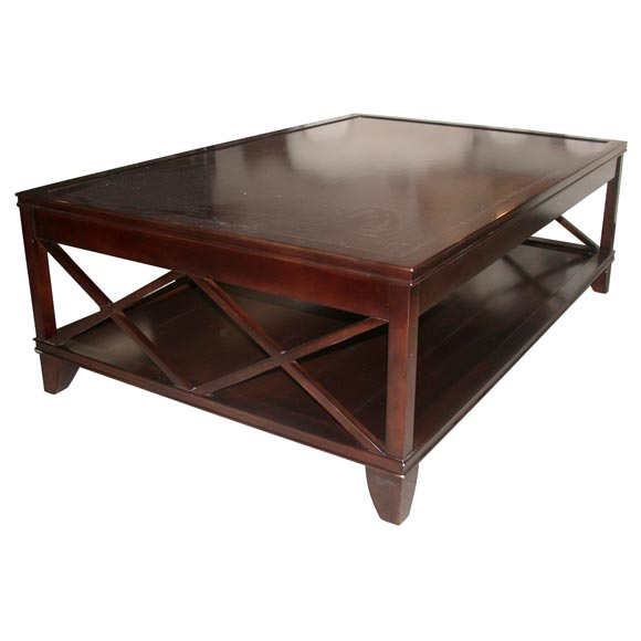 coffee table 60 inches available in ebonized walnut black
