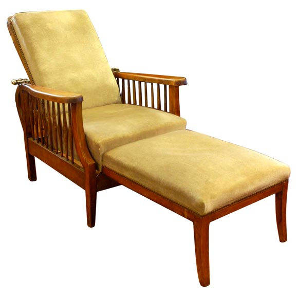 Folding chaise longue at 1stdibs for 1 zitsbank met chaise longue