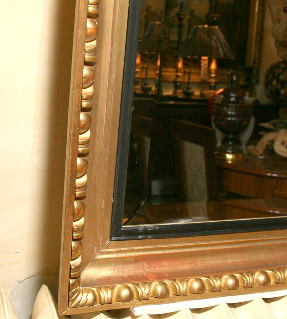 Unknown Giltwood Framed Beveled Mirror For Sale