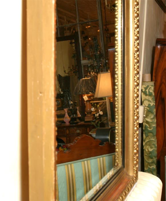 Giltwood Framed Beveled Mirror In Good Condition For Sale In Hudson, NY