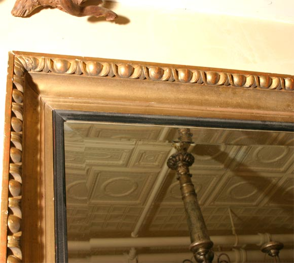 19th Century Giltwood Framed Beveled Mirror For Sale