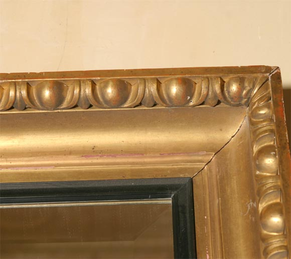 Giltwood Framed Beveled Mirror For Sale 4
