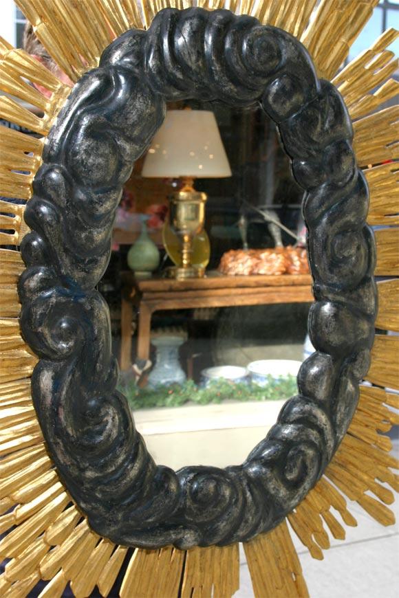 Unknown Sunburst Mirror For Sale