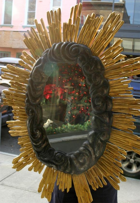 19th Century Sunburst Mirror For Sale