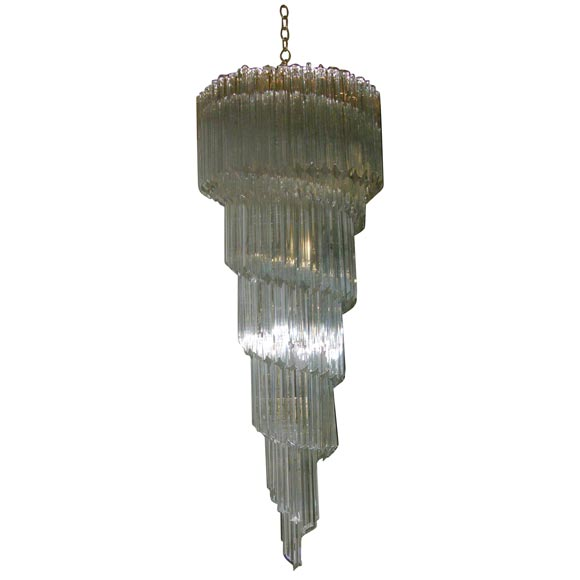 Murano Spiral Chandelier: Murano Glass Spiral Chandelier For Sale At 1stdibs