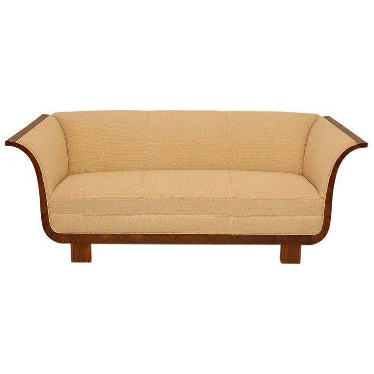 Curved Arm Sofa At 1stdibs