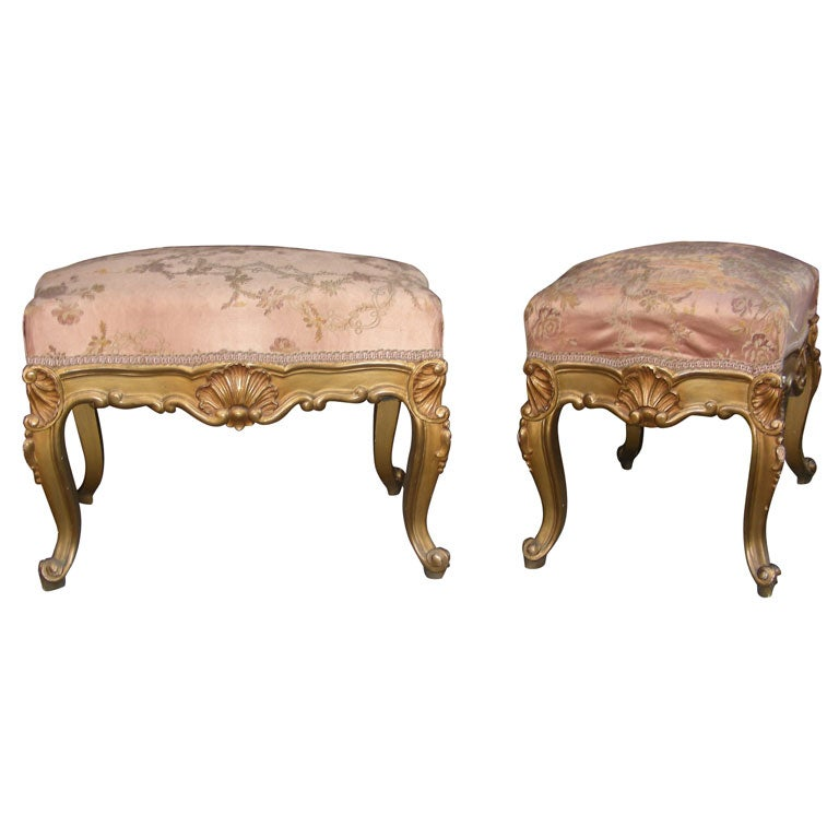 Two Louis Xv Style Stools At 1stdibs