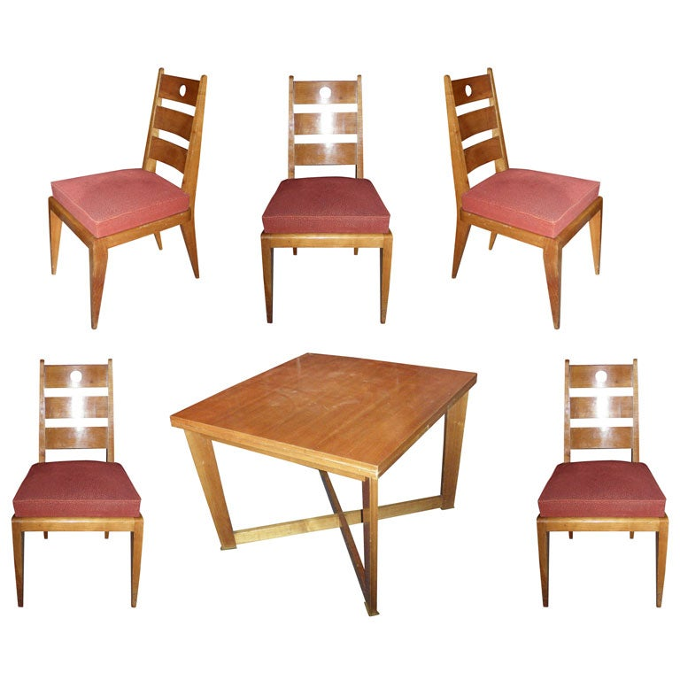 1940s cherry wood dining room suite at 1stdibs for Cherry wood dining room set
