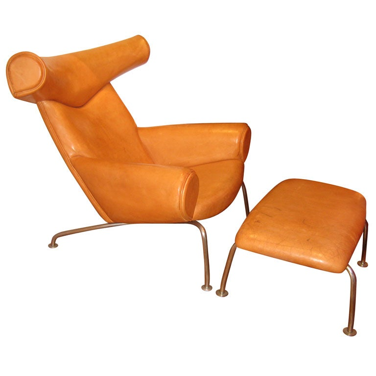1960 Armchair And Foot Rest By Hans Wegner For A P