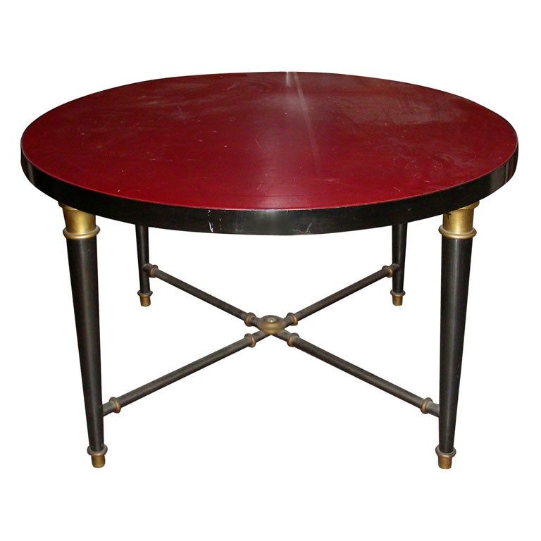 Coffee Table 1950s: 1950s Round Coffee Table By Jansen At 1stdibs