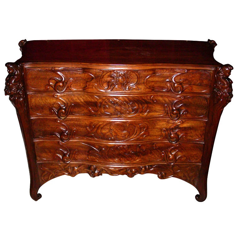 beautiful art nouveau commode at 1stdibs. Black Bedroom Furniture Sets. Home Design Ideas