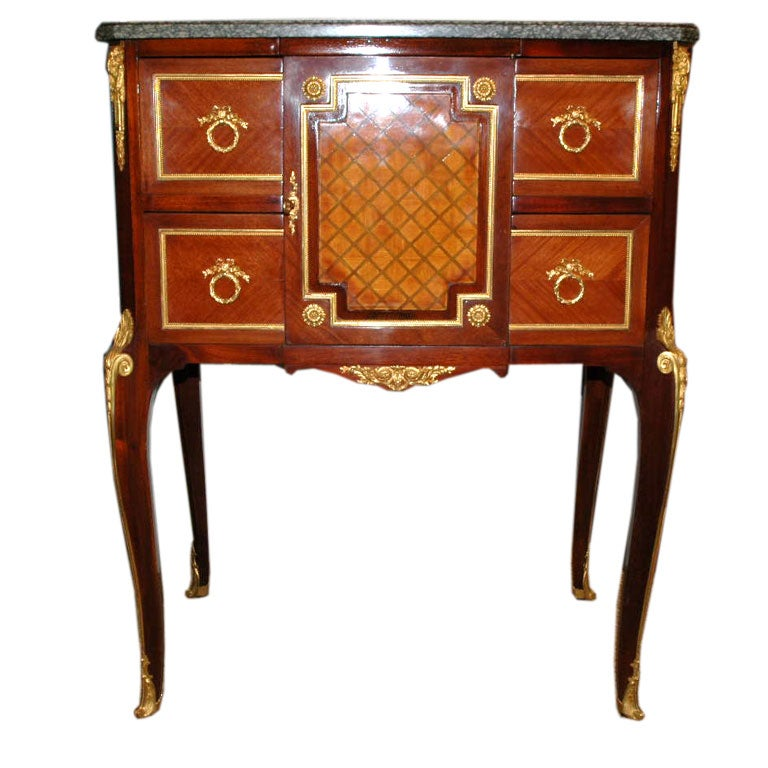 Louis xv xvi transitional meuble d 39 appui cabinet for for Meuble louis xv