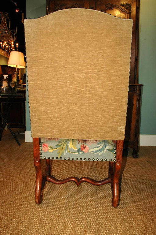 Walnut Pair of Louis XIV Style Armchairs For Sale