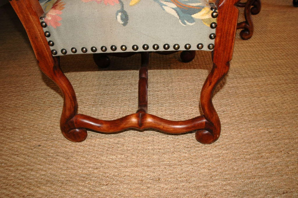 Pair of Louis XIV Style Armchairs For Sale 1