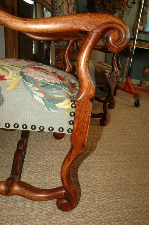 Pair of Louis XIV Style Armchairs For Sale 2
