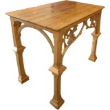 19th Century Gothic Carved Console Table