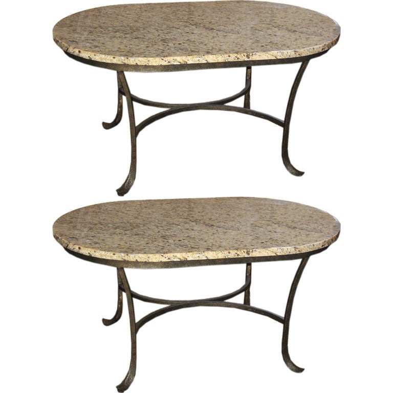 Img for Marble and wrought iron coffee table