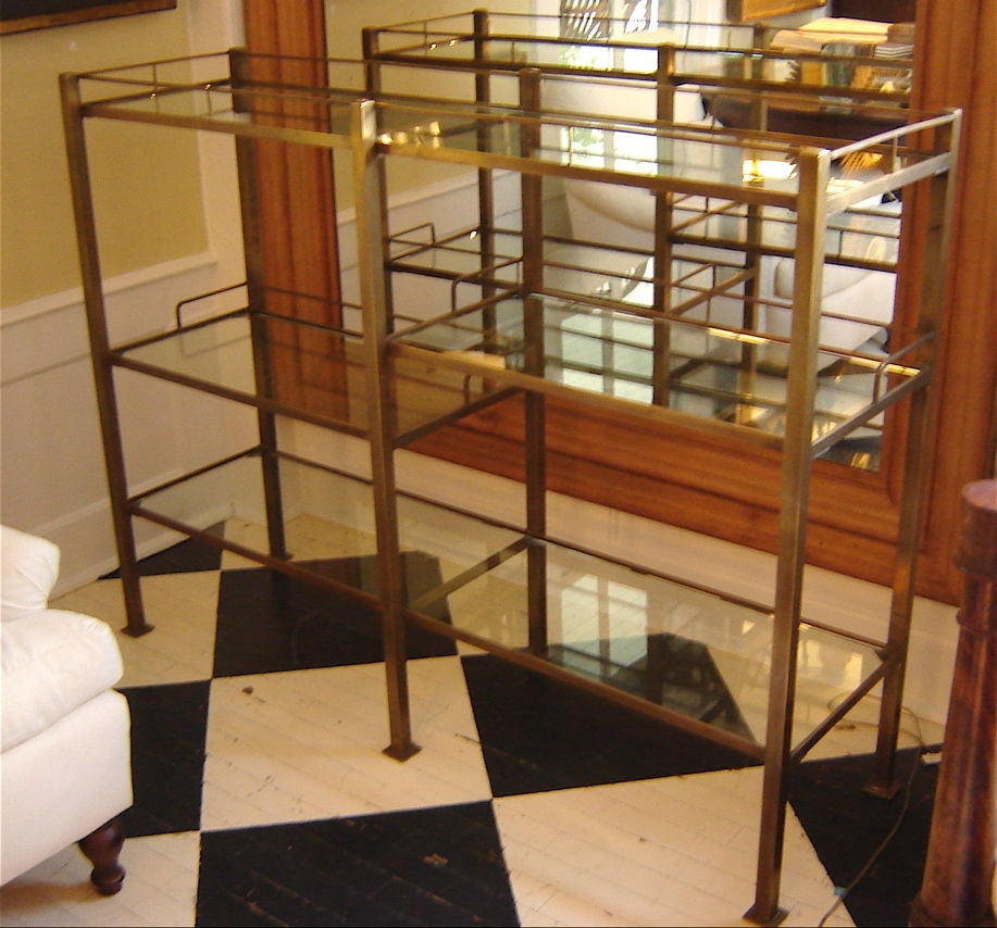 brass and glass etagere at 1stdibs. Black Bedroom Furniture Sets. Home Design Ideas