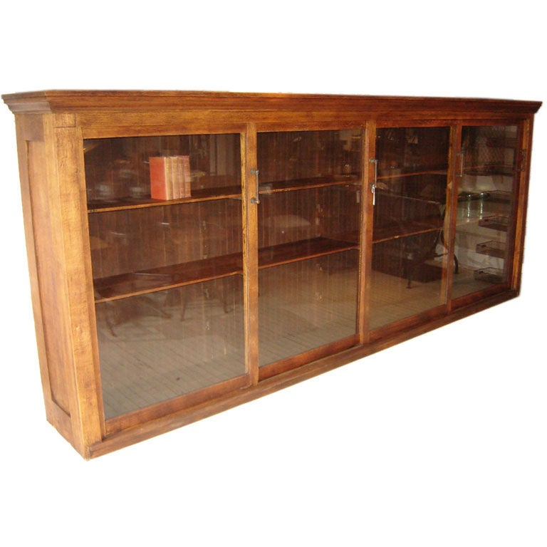oak storage cabinet oak hardware cabinet at 1stdibs 1145