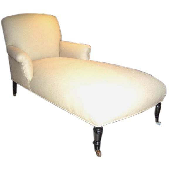 19th century french chaise at 1stdibs - Chaise longue cuir fly ...