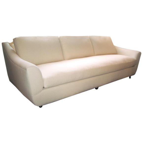 Long Mid Century Sofa At 1stdibs